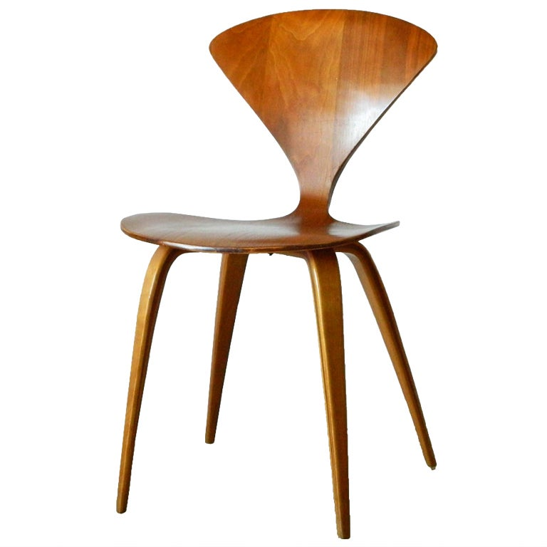 Norman Cherner Molded Plywood Chair for Plycraft at 1stdibs