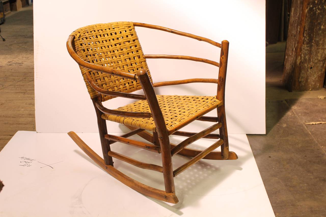 old fashioned rocking chairs meditation chair 1940s american hickory co at 1stdibs