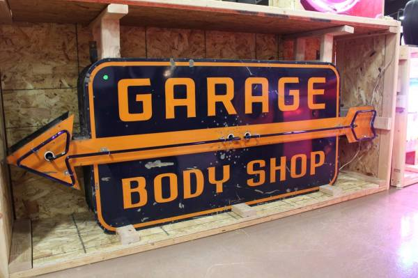 1950s Large Double-sided Garage Body Neon Sign 1stdibs