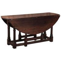 Antique Oval Drop Leaf Gateleg Table at 1stdibs