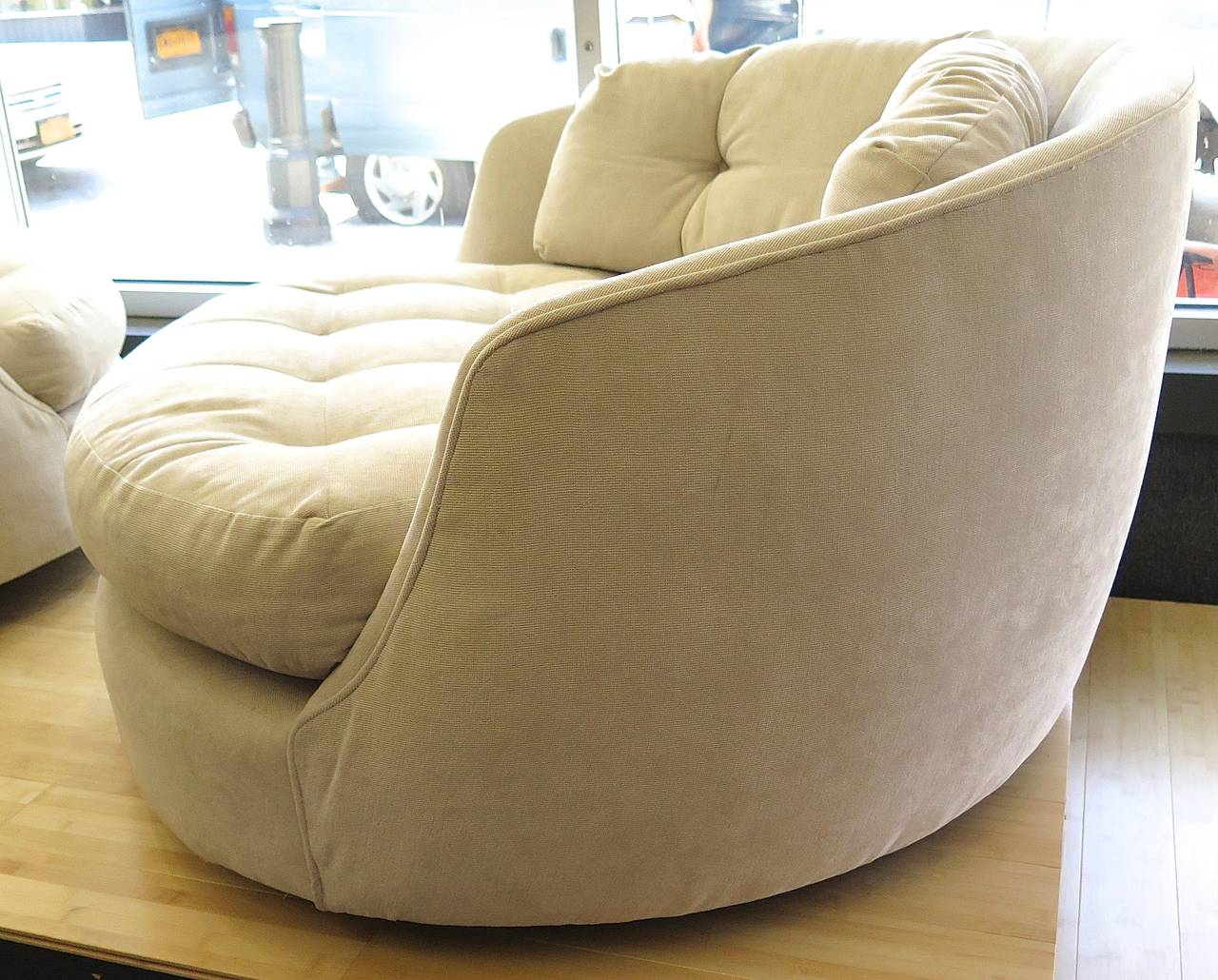 large tub chair revolving parts comfortable 1960 milo baughman extra at