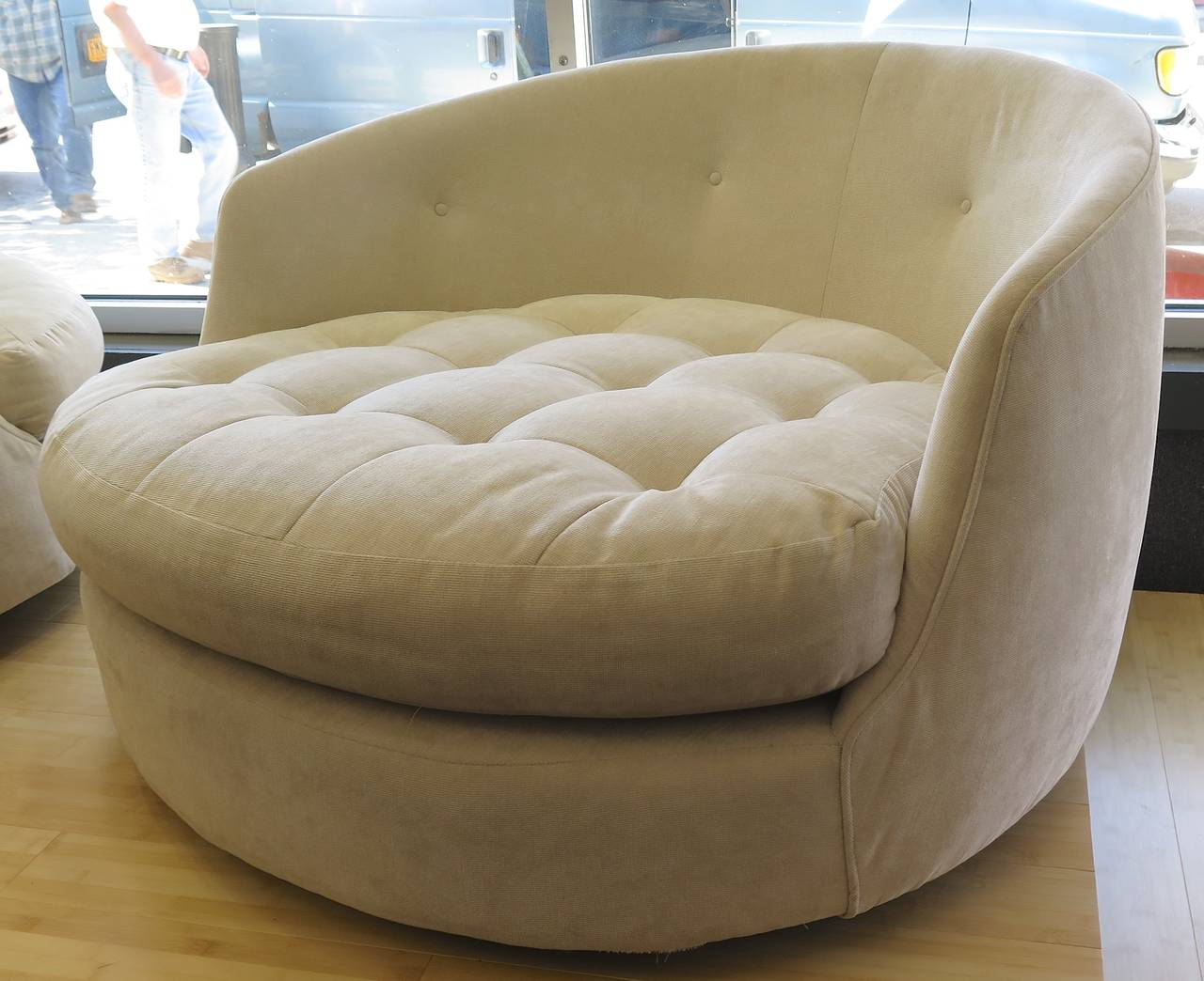 large tub chair wedding covers huddersfield comfortable 1960 milo baughman extra at