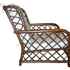 Ficks Reed Chair Danish Design Vintage Tortoise Shell Lacquered And Ottoman By