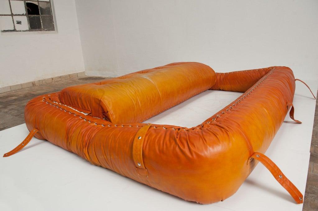 anfibio leather sofa bed studio gardens cape town rare allesandro becchi for giovanetti ...