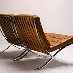 Barcelona Chair Used Mid Century Kitchen Chairs In Saddle Leather By Mies Van Der Rohe