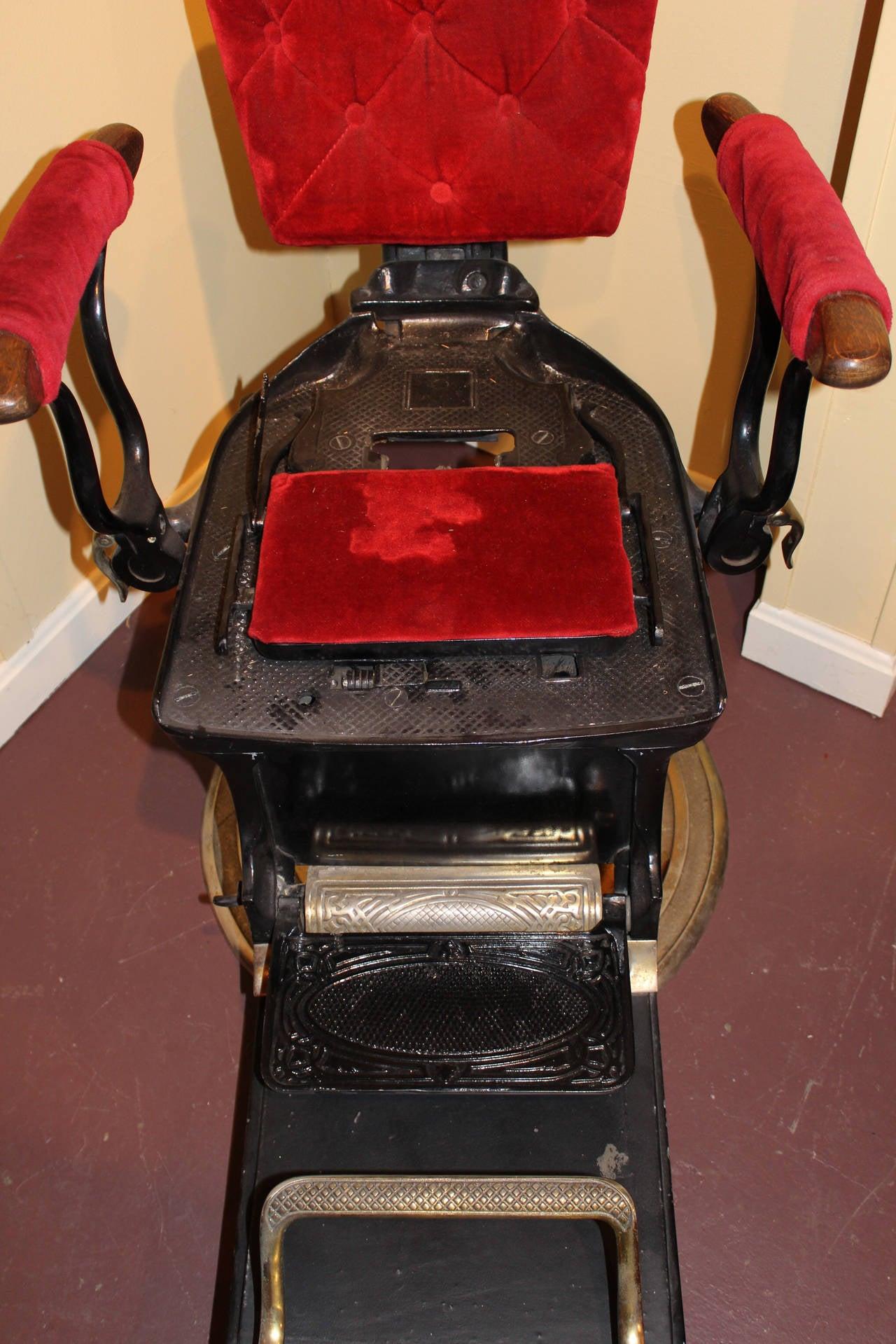 antique dentist chairs eames chair ebay ritter imperial columbia dental or circa