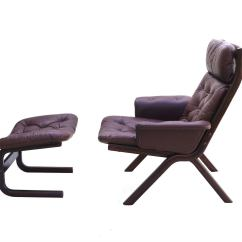 Modern Leather Chair And Ottoman Menards Patio Glides Danish Sculptural Sling Lounge