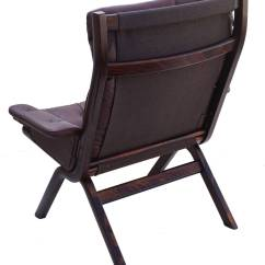 Leather Sling Chairs Club Canada Danish Modern Sculptural Lounge Chair And