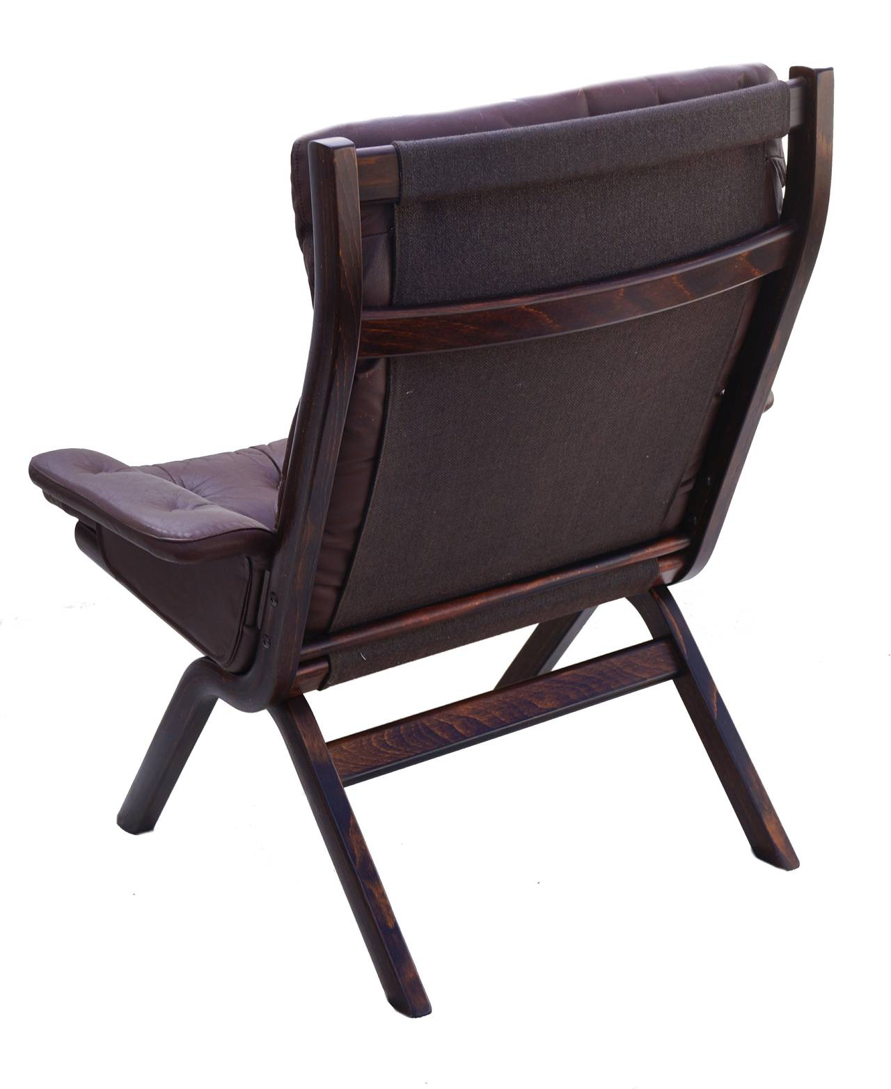modern leather chair and ottoman ghost overstock danish sculptural sling lounge