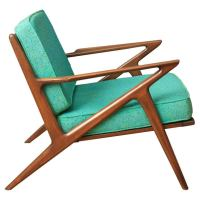 "Vintage Mid-Century ""Z"" Chair by Poul Jensen for Selig at ..."