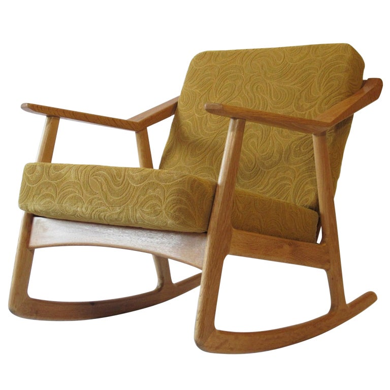 Danish Designed Rocking Chair at 1stdibs