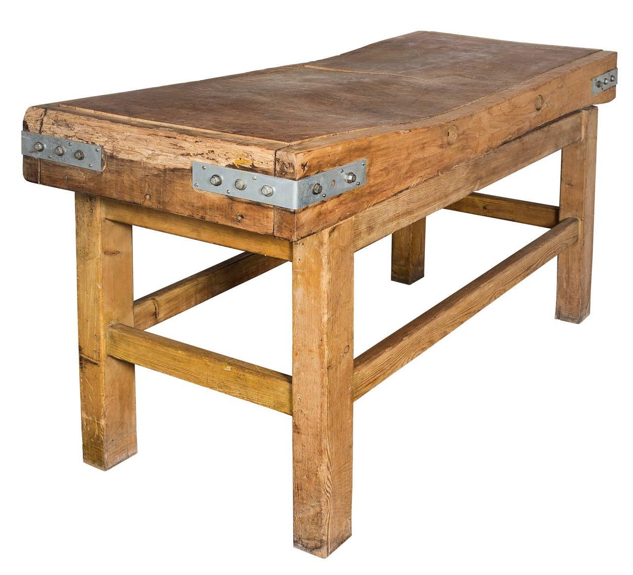 English Butcher Block Table Stand At 1stdibs