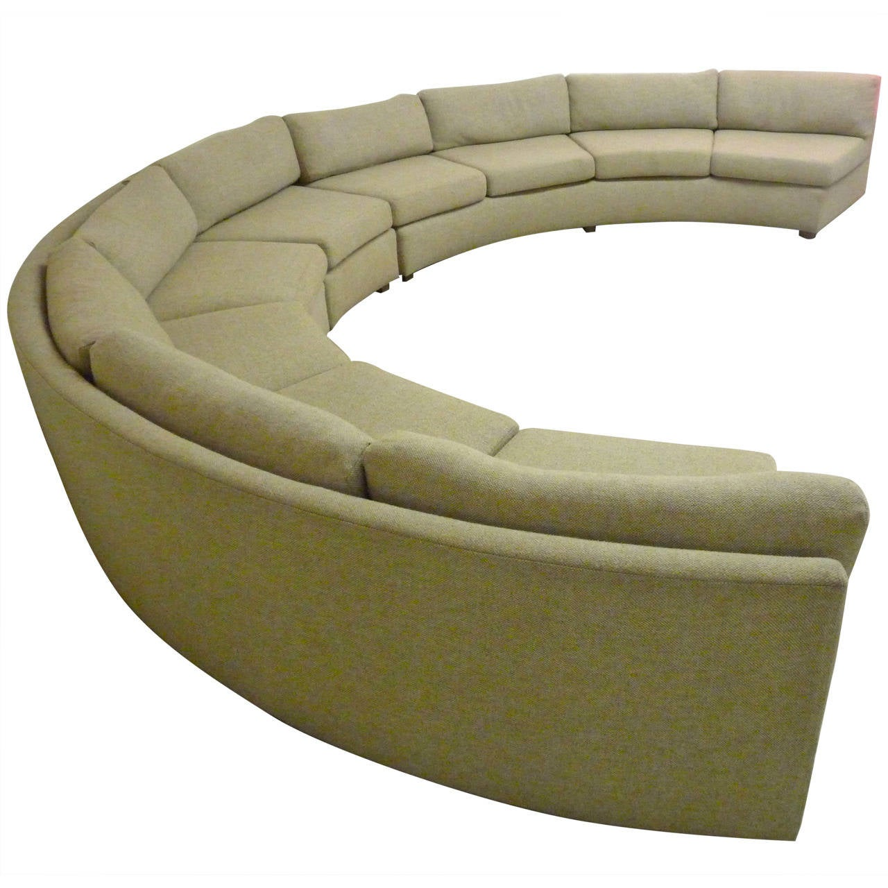 Large, Curved Milo Baughman Sectional Sofa At 1stdibs