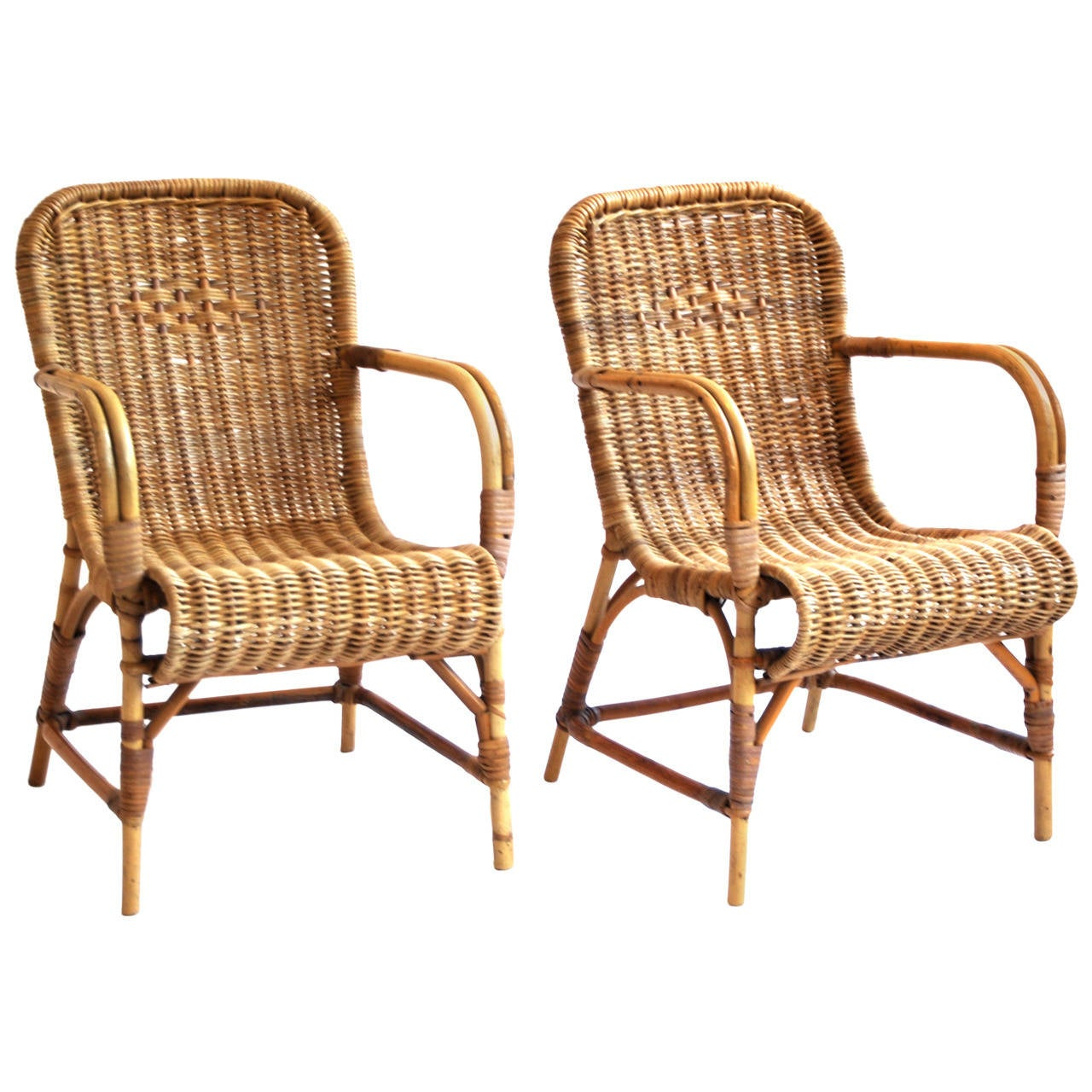 childs rattan chair vibrating cushion rohe children 39s easy at 1stdibs