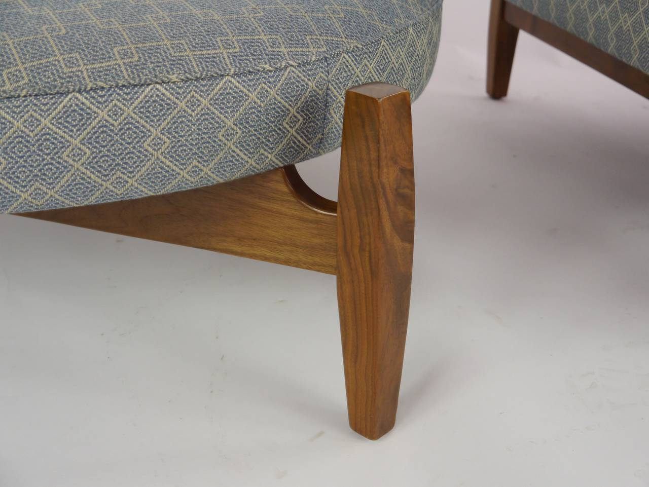 big chair with ottoman handicap bath rare jens risom quotbig quot at 1stdibs