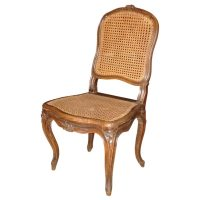 18th Century French Walnut Caned Chair at 1stdibs