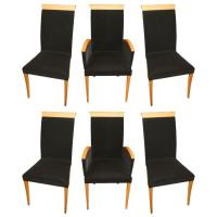 Mid Century Modern HIgh Back Dining Chairs at 1stdibs