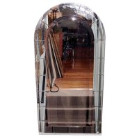 Arch Top Mirror with Beveled Panels at 1stdibs