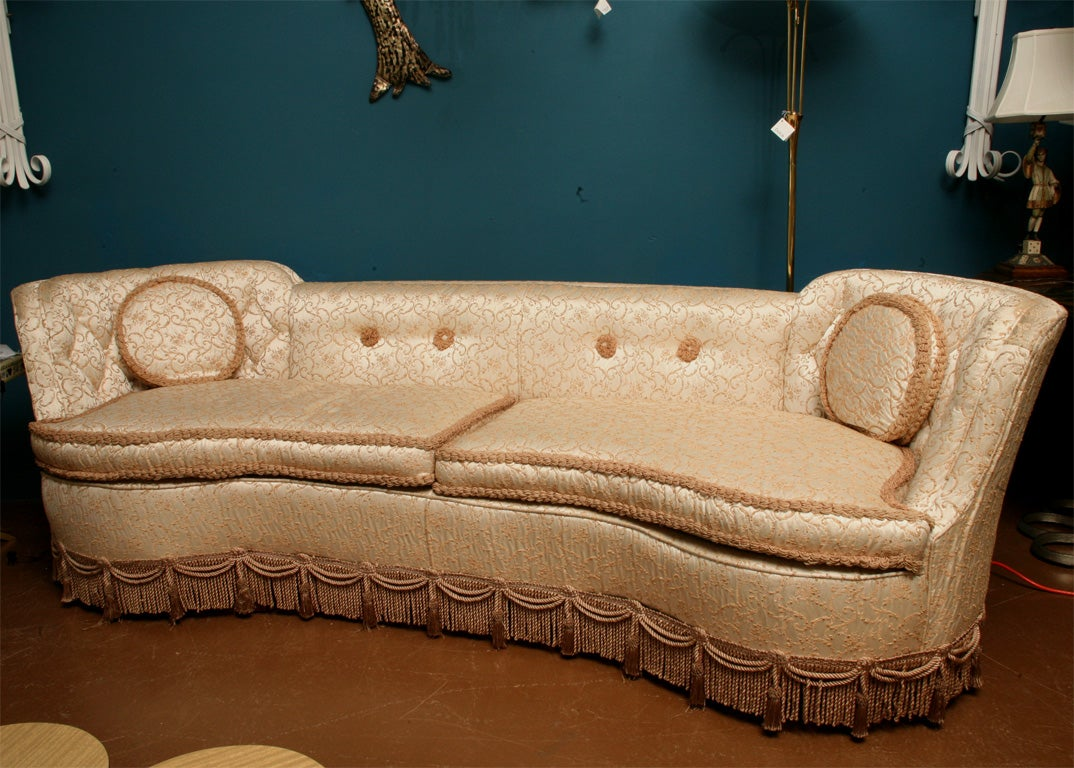 glam sofa sectional sofas with chaise and sleeper hollywood at 1stdibs