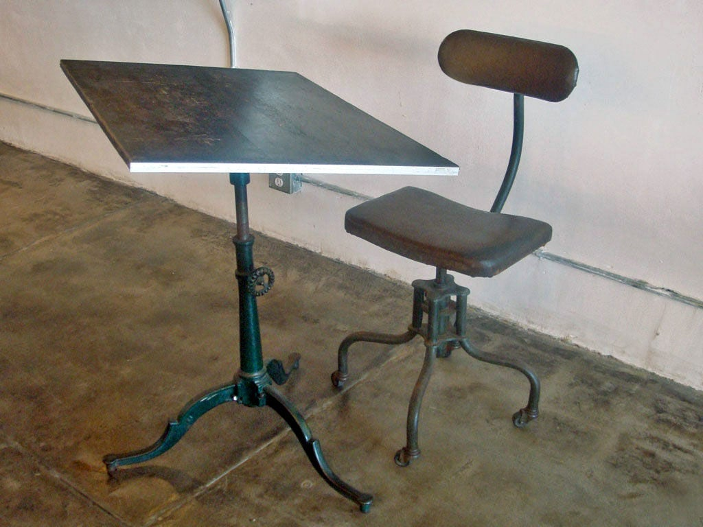 drafting table chairs cafe rattan french bistro industrial and chair image 2