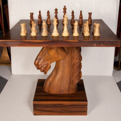 Chess Table And Chairs Cost Reupholster Chair American Fantasy Knight At 1stdibs