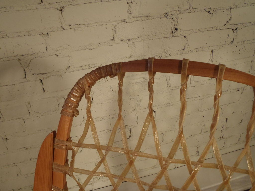 horseshoe rocking chair best chairs geneva glider instructions oak and rawhide snow shoe at 1stdibs