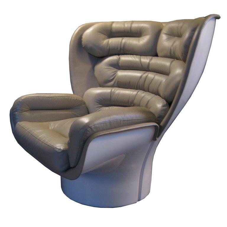 fiberglass shell chair for elderly high seat elda by joe colombo comfort, at 1stdibs