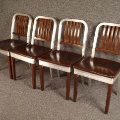 Shaw Walker Chair Fitted Lounge Towels Set Of Four Model 8310 Ws Wood And Aluminum