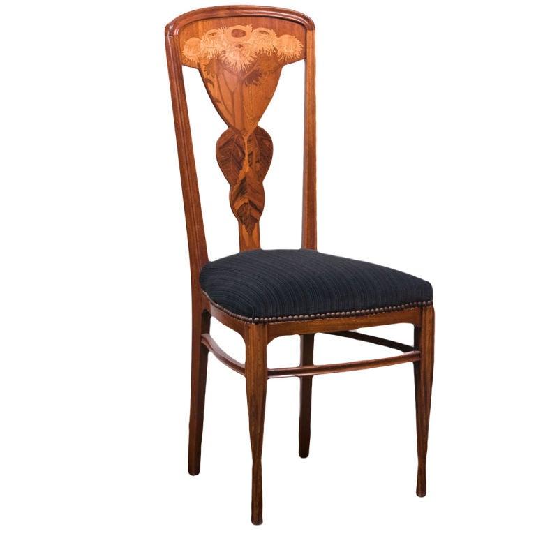 Art Nouveau Side Chair By, Louis Majorelle at 1stdibs