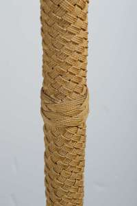 Unique Jute Covered Floor Lamp at 1stdibs