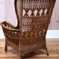Wicker Wingback Chairs Eddie Bauer Classic 3 In 1 Wood High Chair Heywood Wakefield Bar Harbor At 1stdibs