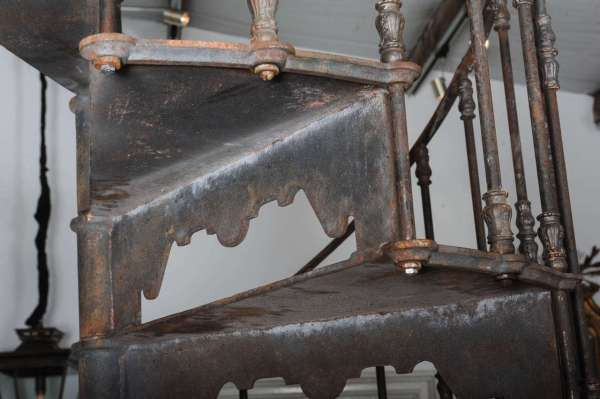 Cast Iron Spiral Staircase