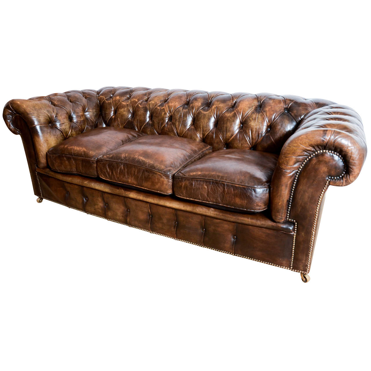 montauk sofas decorating around red leather sofa 1920's english upholstered chesterfield
