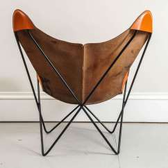 Butterfly Lounge Chair Cheap Pine Dining Chairs Mid Century Hardoy In Leather At 1stdibs