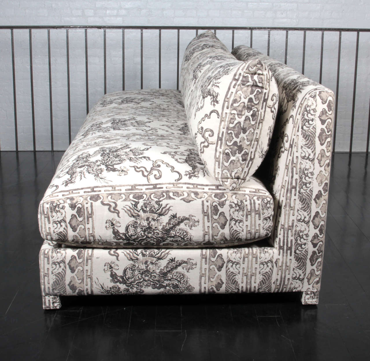 antony todd sofa walmart pillows armless upholstered in jim thompson hand