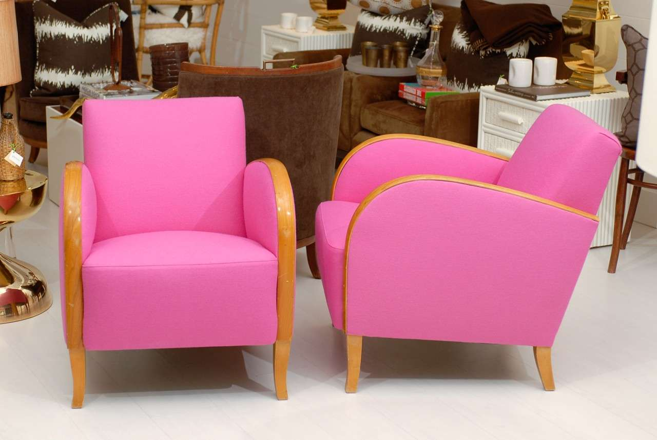 pink club chair kmart high hot deco chairs at 1stdibs