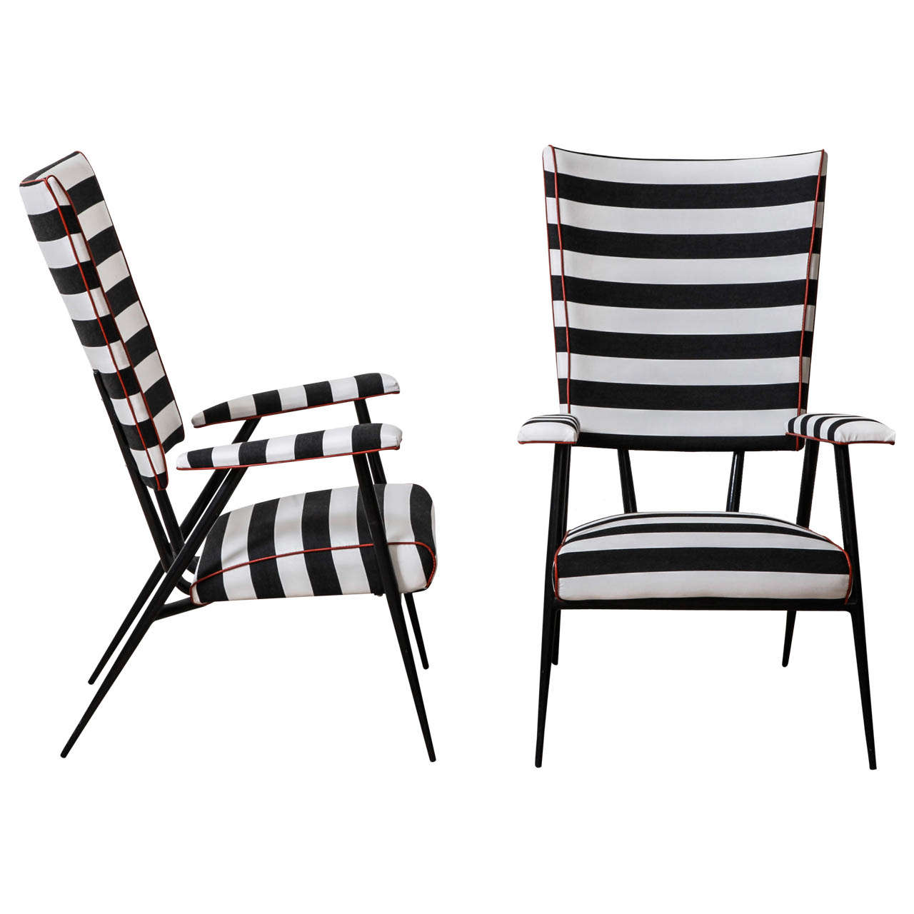 ez chair barber used zero gravity chairs for sale pair of 1960 39s side at 1stdibs