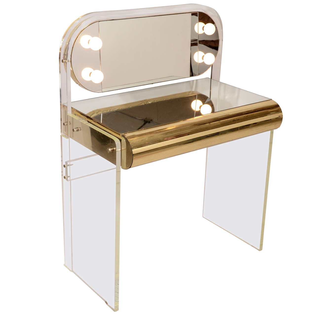 Lucite Vanity Table at 1stdibs