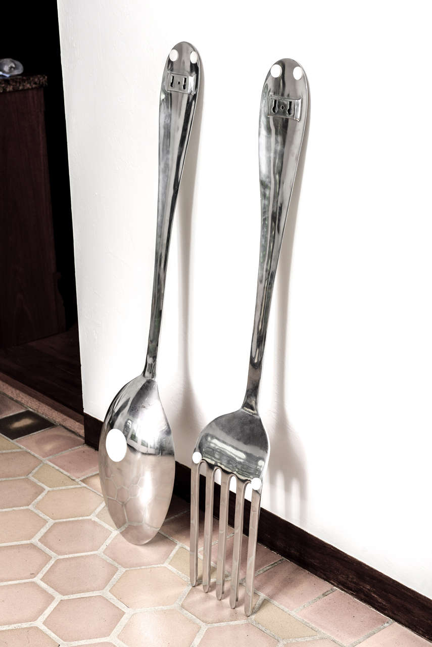 Large Fork and Spoon Wall Hanging at 1stdibs