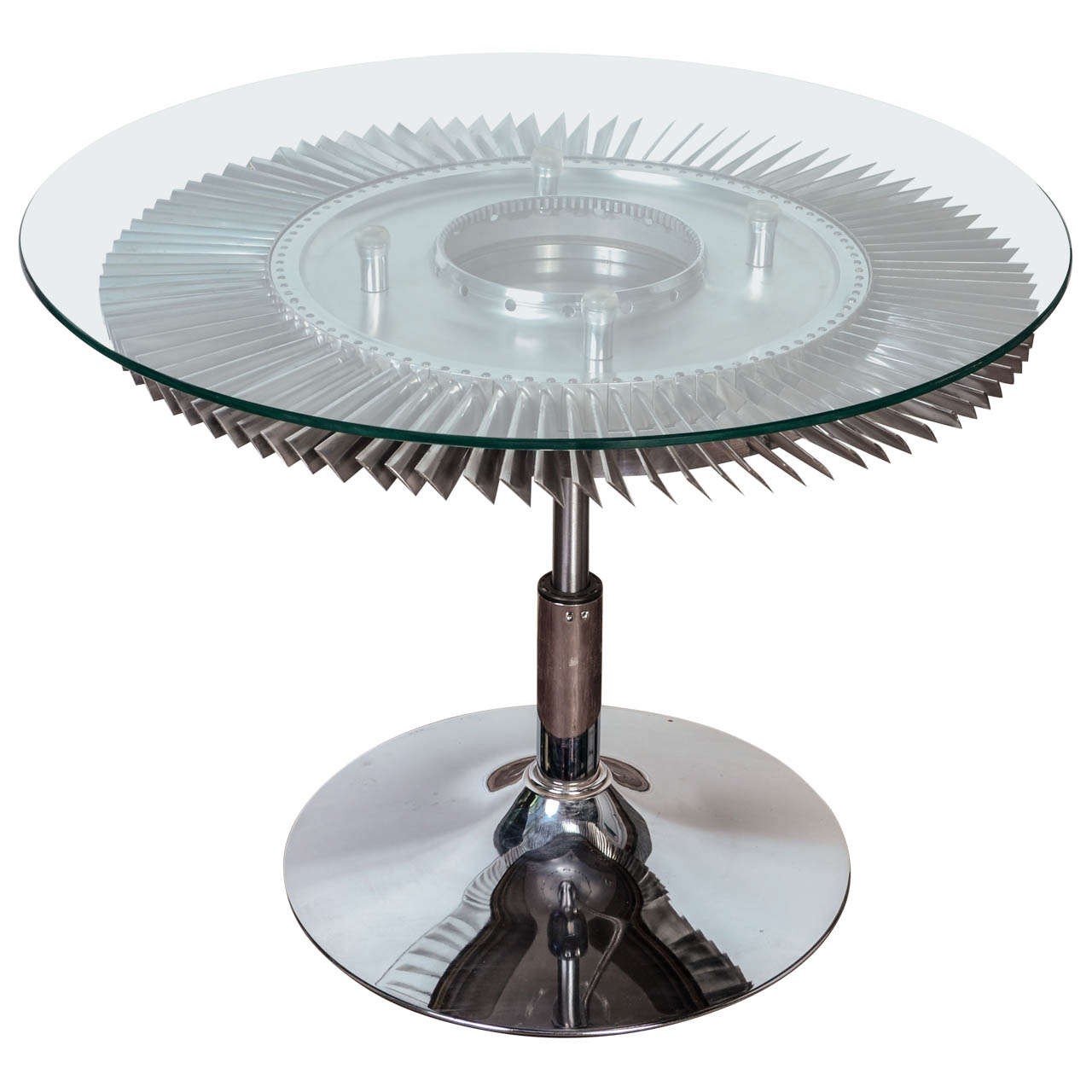 Aviation Jet Engine Turbine Fan Coffee Table