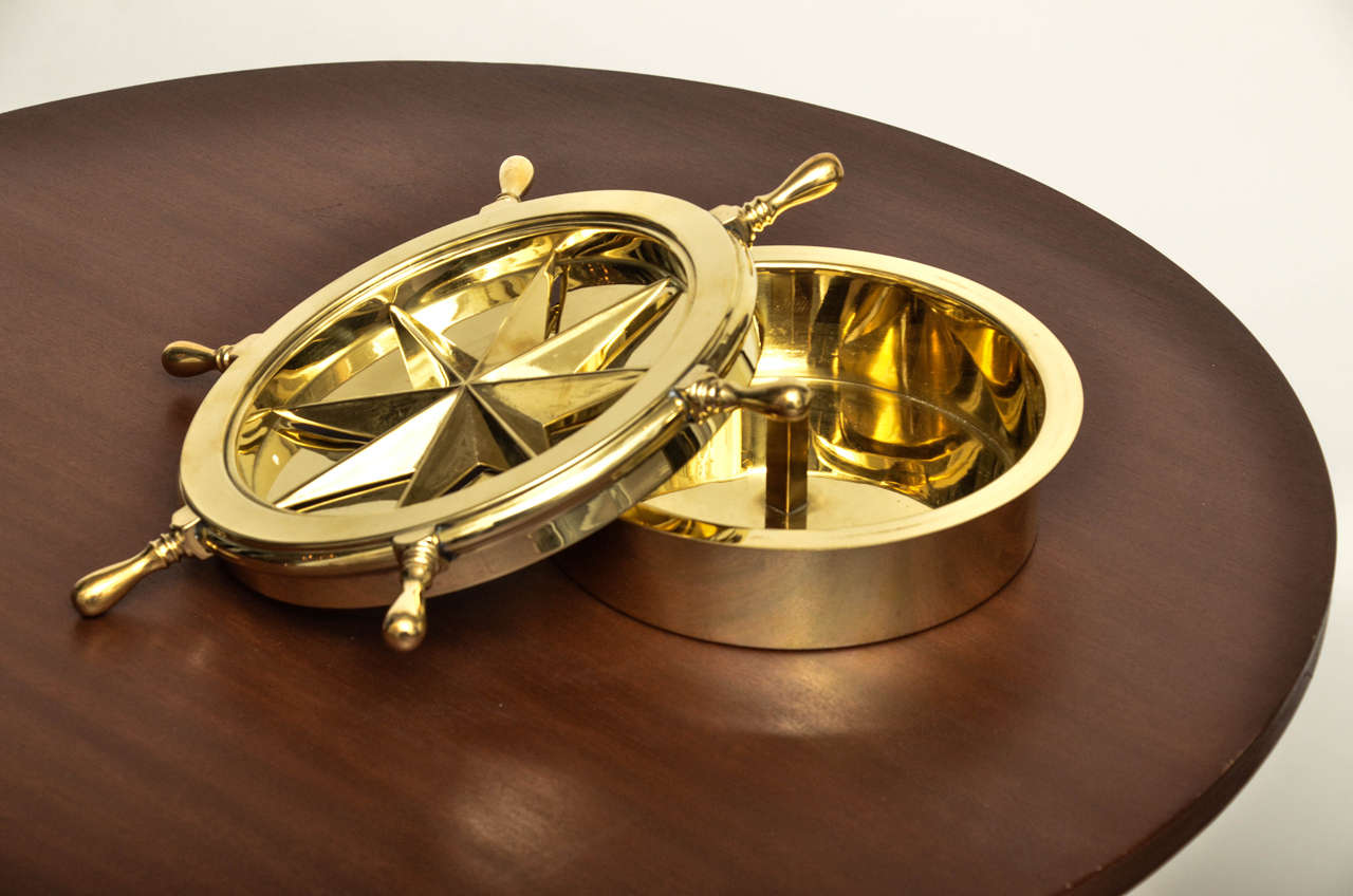 revolving chair without wheels stormtrooper deck nautical themed brass ash tray with rotating ship wheel