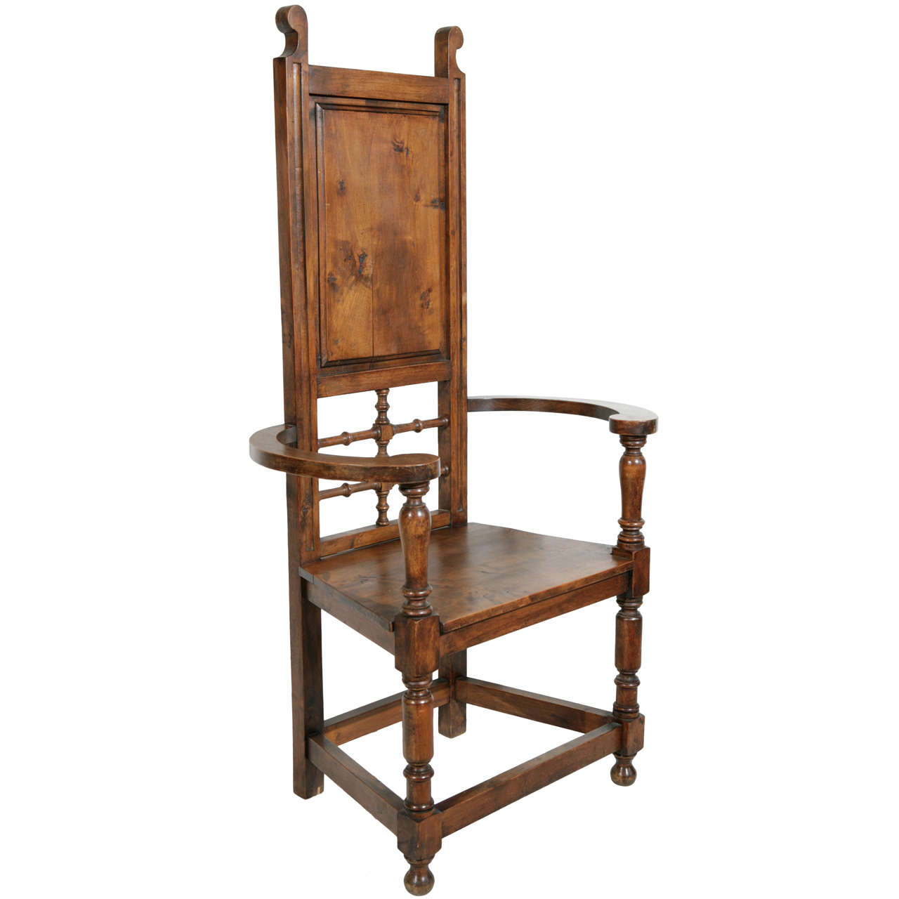 high back dining chairs studded accent chair pine throne arm at 1stdibs