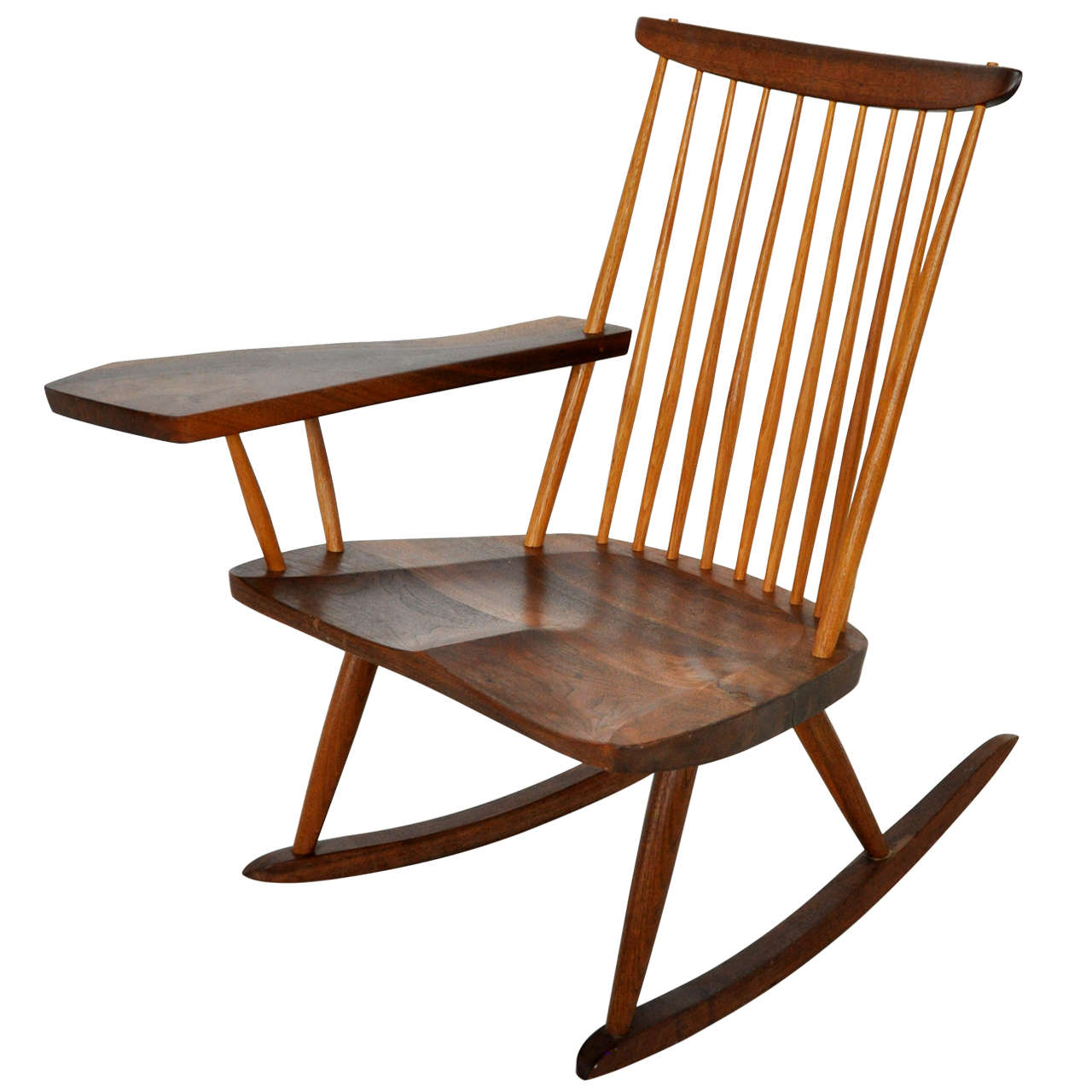 antique rocking chairs without arms directors for sale george nakashima chair at 1stdibs
