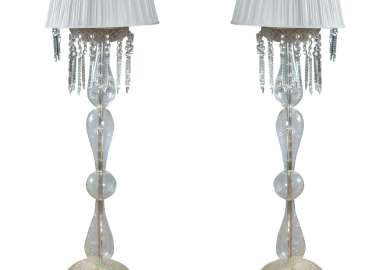 Crystal Mid Century Lamps At 1stdibs