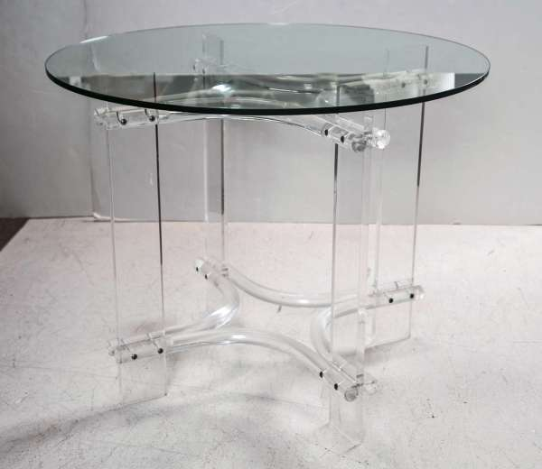 Round Glass Top Table with Base