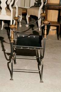 Italian Curule Savonarola Gothic Throne Chair at 1stdibs