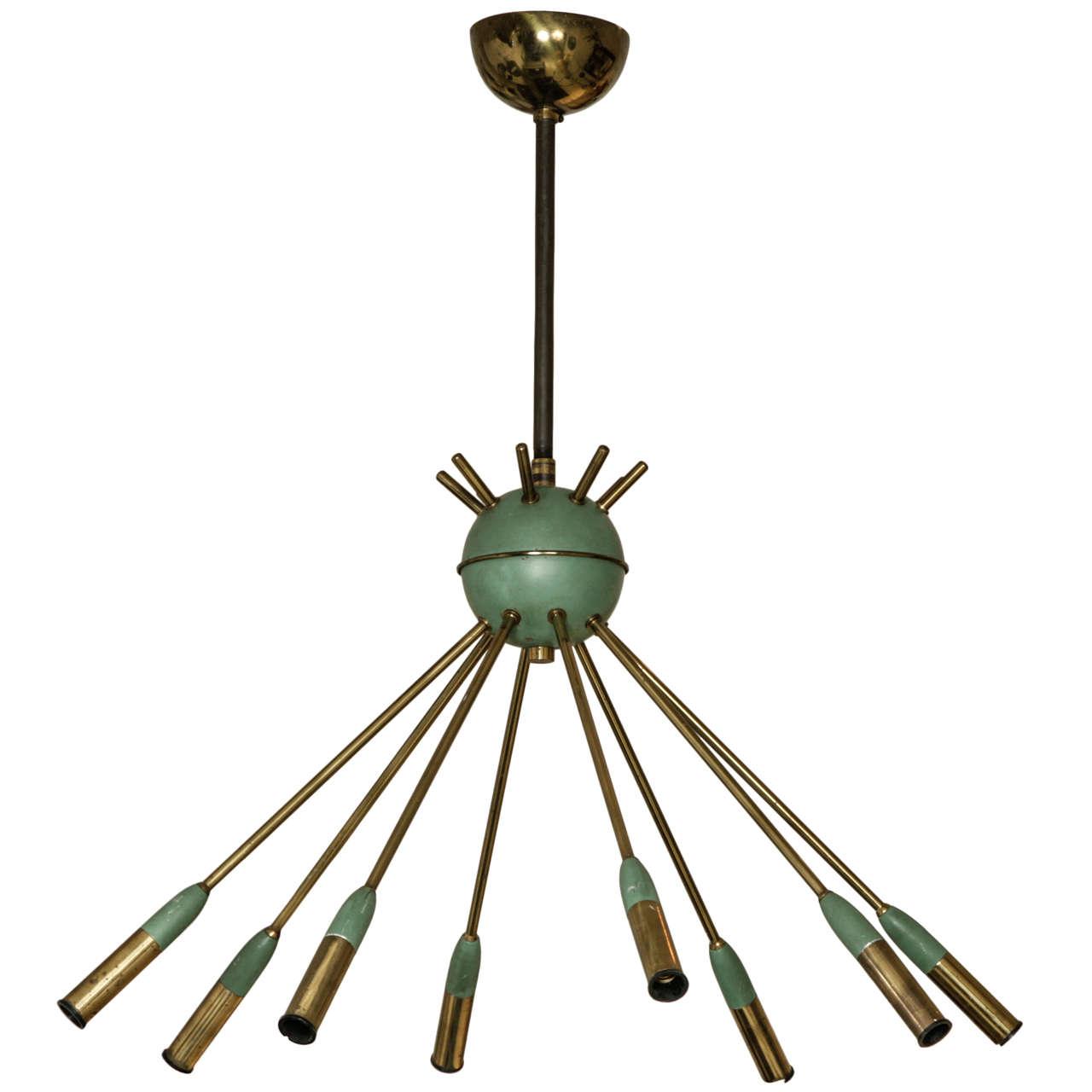 Italian design mid century ceiling light at 1stdibs