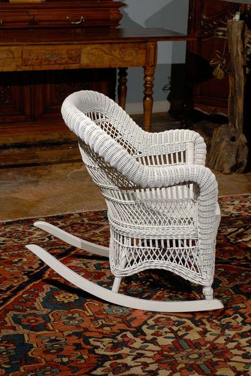 Heywood Wakefield Wicker Rocking Chair at 1stdibs