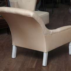 Leather Tufted Chair And Ottoman Rocking Modern Design At 1stdibs