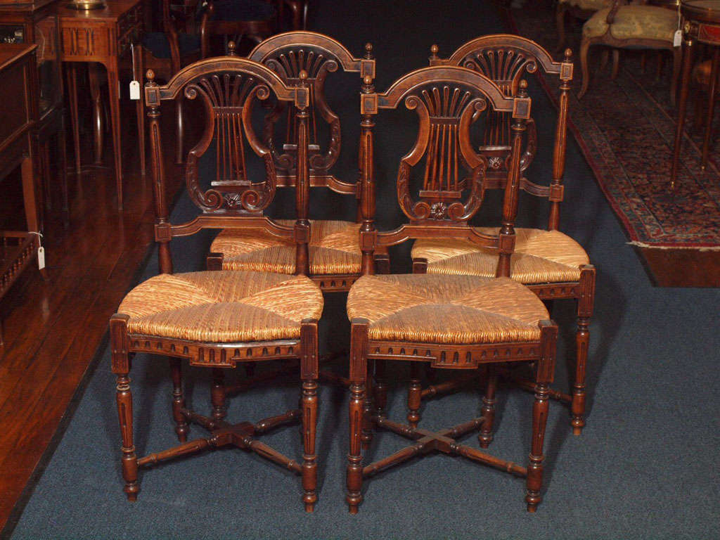 vintage dining room chairs 2 wicker and table set of 8 antique french country at 1stdibs